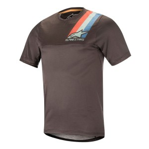 Alpinestars koszulka ALPS 4.0 SS Jersey melange dark gray teal red M